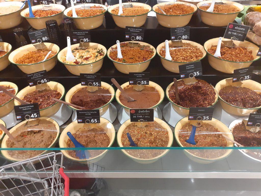 Gewürzpasten Bangkok Supermarkt