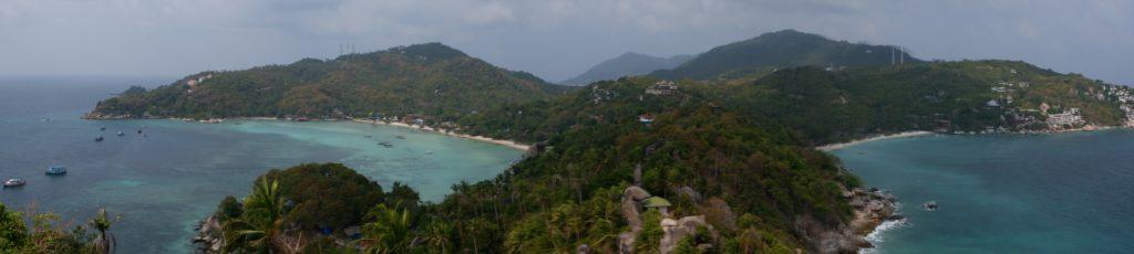 Ko Tao (left: freedom beach - right: shark bay)