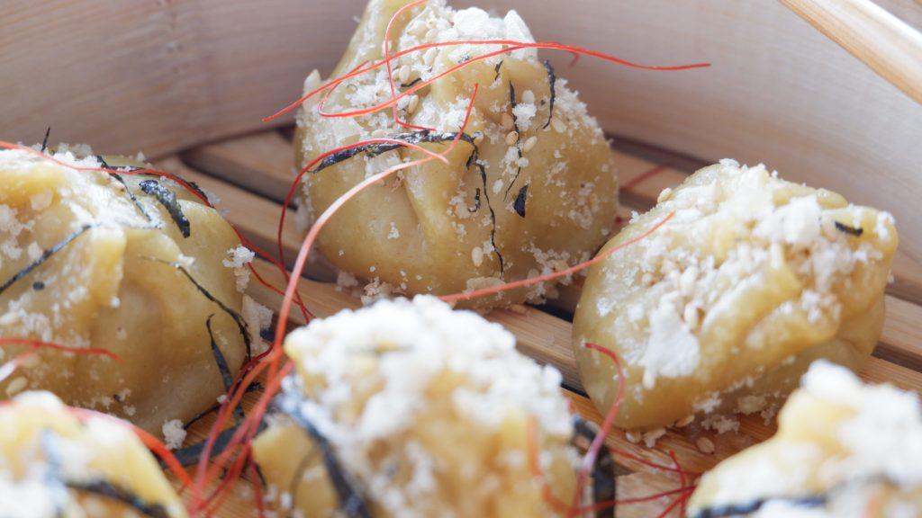 Crispy dim sum with shrimp