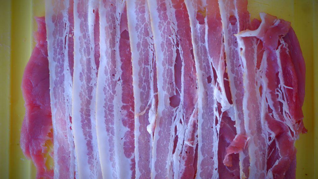 Pork schnitzel with bacon