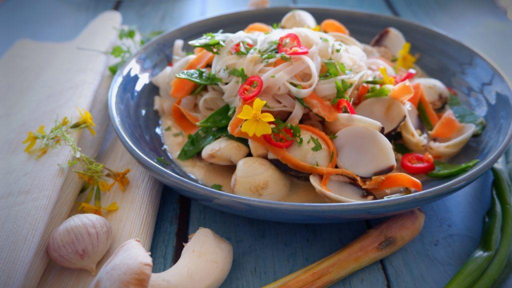 Tom Kha Shell Pasta